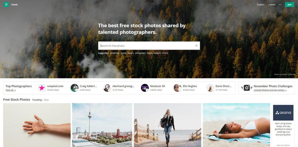 Bancos de imágenes gratuitas